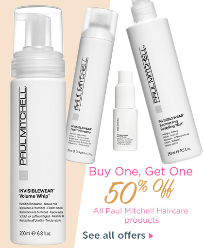 BOGO 50% Off All Paul Mitchell haircare products