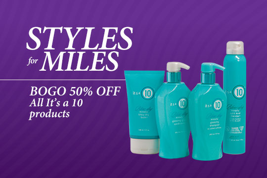 Buy one, get one 50% off all It's a 10 products