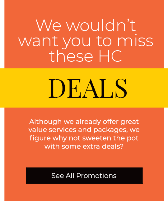 Don't miss these HC deals and promotions